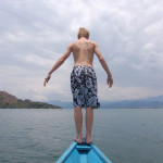 Dive on in swimming in Lake Kivu.